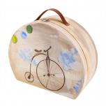 Ξύλινη καπελιέρα με θέμα vintage ποδήλατο