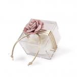 Μπομπομπονιέρα γάμου κουτάκι με λουλούδι σάπιο μήλο