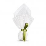 Μπομπονιέρα γάμου από λευκό τούλι με πουά