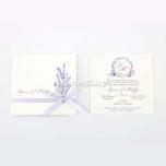Προσκλητήριο γάμου με άνθη λεβάντας Tsantakides