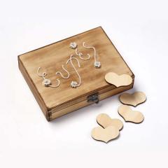 Ευχολόγιο ξύλινο κουτί με καρδιές