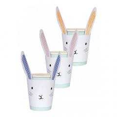 Χάρτινα ποτήρια σε σχήμα κουνελάκι Little Bunny Meri Meri