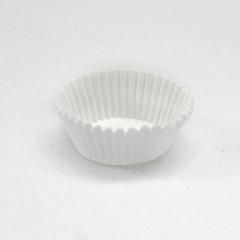 Χάρτινες βάσεις για καπ κέικ 3x7.5cm λευκές 100 τεμ.