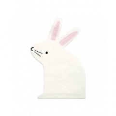 Χαρτοπετσέτα λευκό κουνελάκι Little Bunny Meri Meri