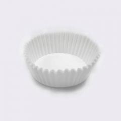 Χάρτινες βάσεις για καπ κέικ 3x8.5cm λευκές 100 τεμ.