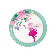 Χάρτινα πιάτα γλυκού Floral Fairy 8τεμ 17εκ