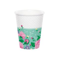 Χάρτινα ποτήρια Floral Fairy 8τεμ 260ml