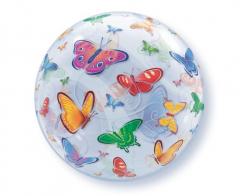 Μπαλόνι bubble 56εκ. με πεταλούδες 1τεμ.