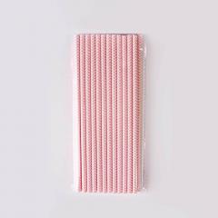 Χάρτινα καλαμάκια με ροζ zigzag μοτίβο