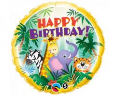 Μπαλόνι Φοιλ 46εκ. Happy Birthday Jungle