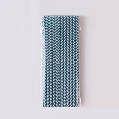 Χάρτινα καλαμάκια με πετρόλ zigzag μοτίβο