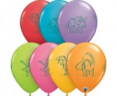 Μπαλόνια λάτεξ Dinosaurs in action 5τεμ. 27,5εκ.