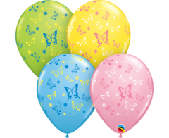 Μπαλόνια λάτεξ 28εκ. με πεταλούδες 5τεμ.