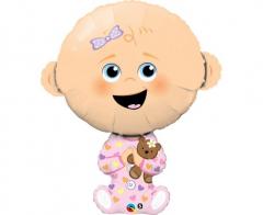 Μπαλόνι Φοιλ ροζ Baby Girl 97εκ.