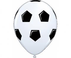 Μπαλόνια λάτεξ λευκά σχέδιο ποδοσφαιρική μπάλα 5τεμ.