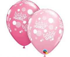 Μπαλόνια λάτεξ 28εκ. Baby Girl Dot 5τεμ.