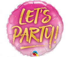 Μπαλόνι Φοιλ ροζ Let's Party  Bachelorette 23εκ.