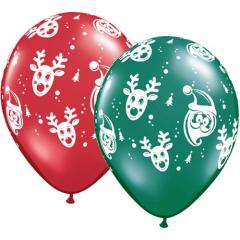 Χριστουγεννιάτικα μπαλόνια λατέξ Santa & Rudolph 5τεμ.