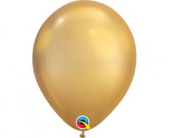 Μπαλόνια λάτεξ 17εκ. χρυσό chrome 10τεμ.