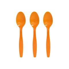 Κουταλάκι πλαστικό πορτοκαλί 16τεμ