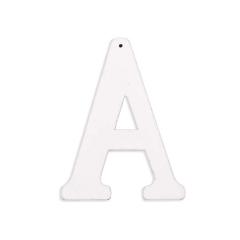 Ξύλινο γράμμα Α λευκό 6εκ