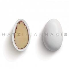 Κουφέτα αμυγδάλου κλασσικό midi λευκό γυαλισμένο 4kg