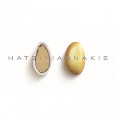 Κουφέτα αμυγδάλου μεταλλιζέ χρυσό 1kg