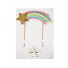 Διακοσμητικό τούρτας πεφταστέρι Rainbows & Unicorns Meri Meri