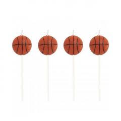 Κεράκια τούρτας μπάλα μπάσκετ 4τεμ