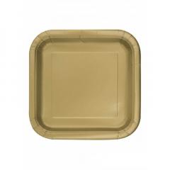 Πιάτο χάρτινο φαγητού σε χρυσό χρώμα 23 εκ
