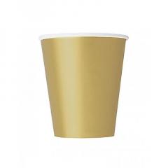 Ποτήρι χάρτινο σε χρυσό χρώμα 9 εκ