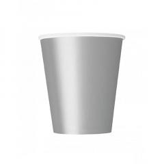 Ποτήρι χάρτινο σε ασημί χρώμα 9 εκ