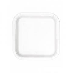 Πιάτο χάρτινο φαγητού σε λευκό χρώμα 23 εκ