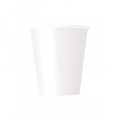 Ποτήρι χάρτινο σε λευκό χρώμα 9 εκ