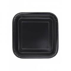 Πιάτο χάρτινο φαγητού σε μαύρο χρώμα 23 εκ