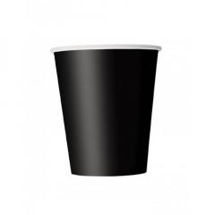 Ποτήρι χάρτινο σε μαύρο χρώμα 9 εκ