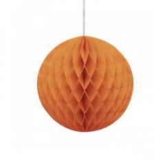 Μπάλα honeycomb σε πορτοκαλί χρώμα