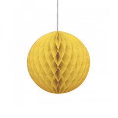 Μπάλα honeycomb σε κίτρινο χρώμα