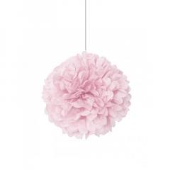 Διακοσμητική μπάλα Puff σε ροζ χρώμα