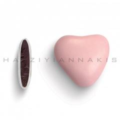 Κουφέτα σοκολάτας καρδιά ροζ ανοιχτό ματ 1kg