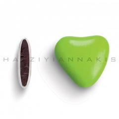 Κουφέτα σοκολάτας καρδιά βεραμάν γυαλισμένο 1kg