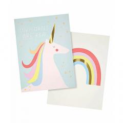 Αφίσα μονόκερος Rainbows & Unicorns Meri Meri
