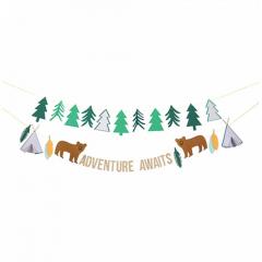 Γιρλάντα με δέντρα και αρκουδάκια Let's Explore Meri Meri