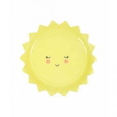 Χάρτινο πιάτο γλυκού σε σχήμα ήλιου Baby Party Meri Meri