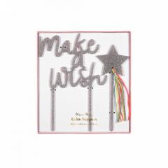 Διακοσμητικό Τούρτας Make a wish Rainbows & Unicorns Meri Meri