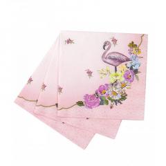 Χαρτοπετσέτες με θέμα Flamingo Talking
