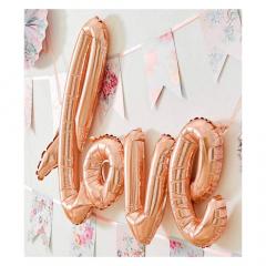 Μπαλόνι σε σχήμα Love Flamingo Talking