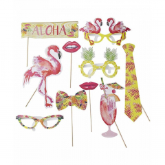 Χάρτινα αξεσουάρ πάρτι Flamingo Talking