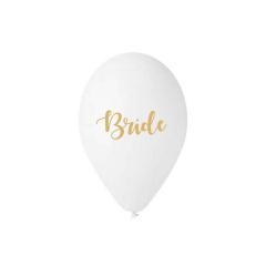 Μπαλόνι τυπωμένο λευκό Bride 5τμχ