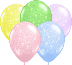 Μπαλόνια λάτεξ 30εκ. με λουλούδια 5τεμ.